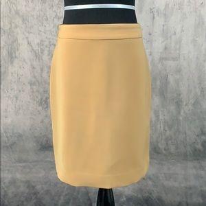 4P Michele Camel Pencil Skirt